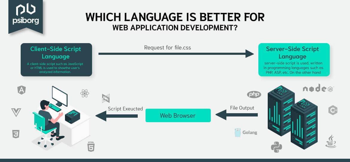 best web application development language
