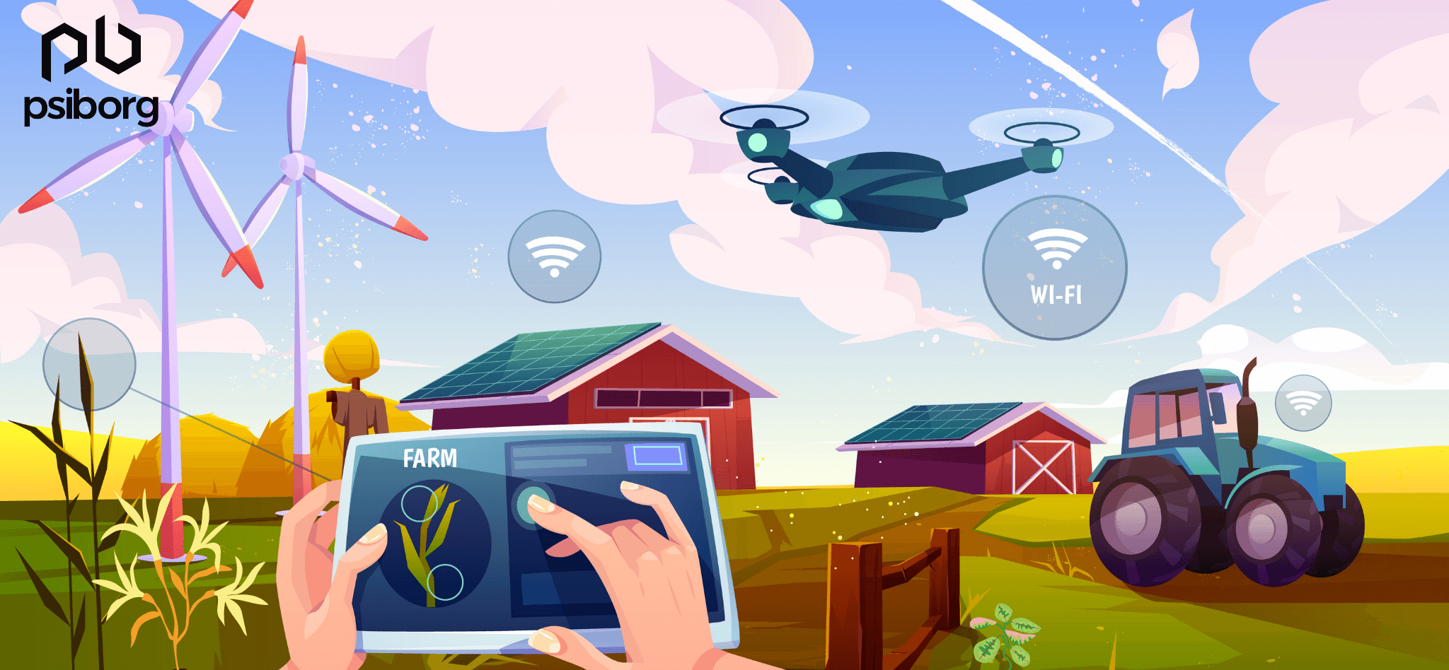 Iot Sensor system in agriculture