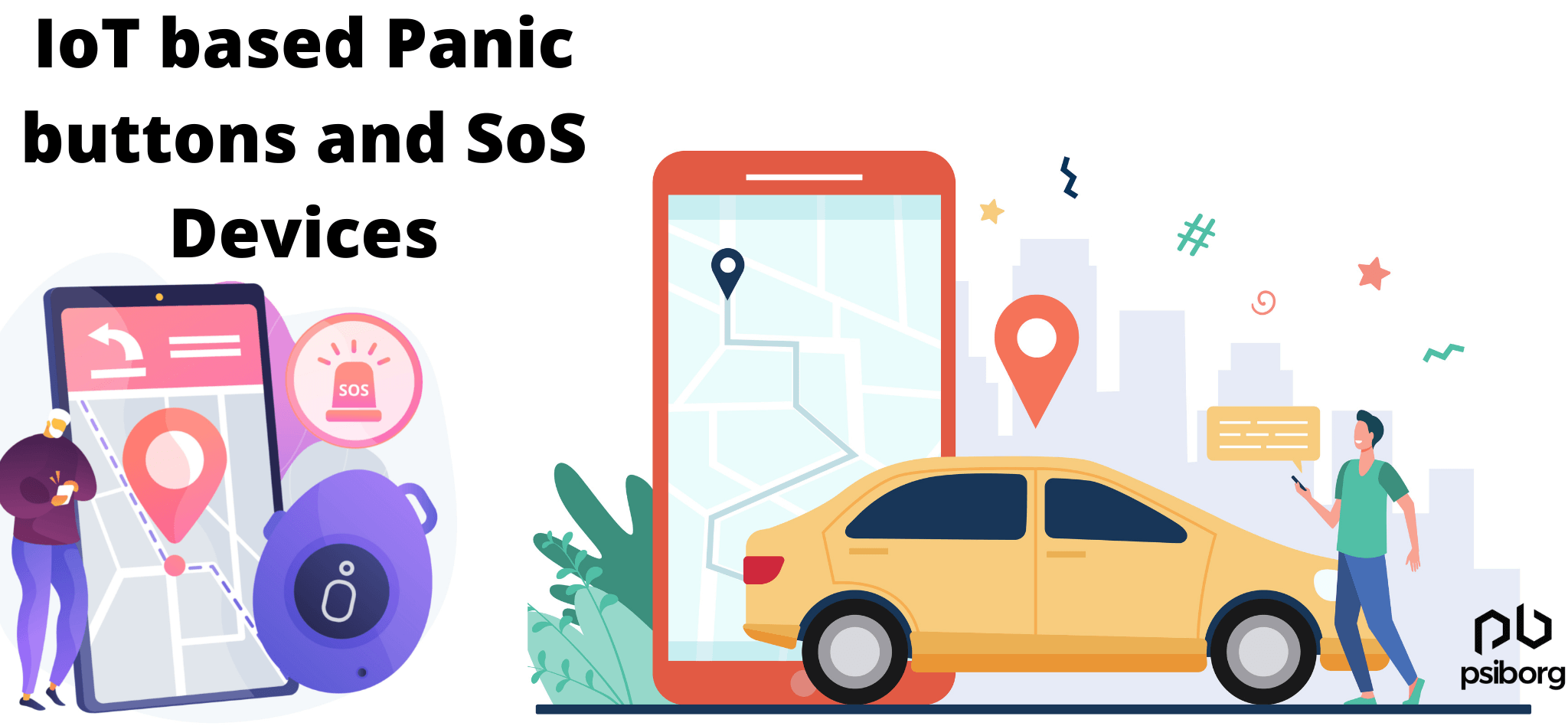 IoT based tracking devices and panic buttons